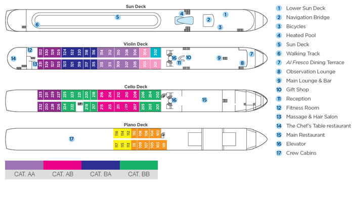 AmaWaterways Ship Deck Plans
